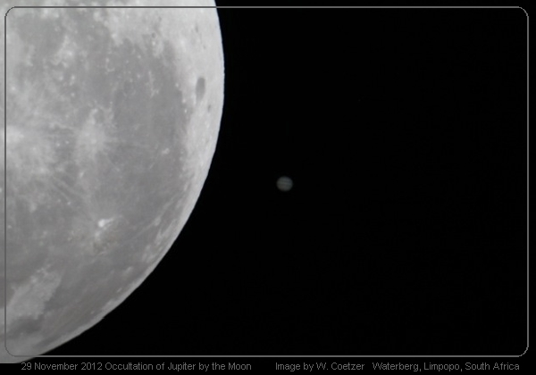 2012 OCCULTATION OF JUPITER BY THE MOON